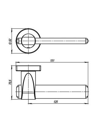 AJAX URB1 SN/CP/SN-12 Матовый никель/Хром