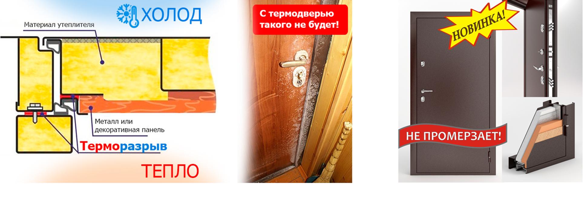Оцинкованные двери с терморазрывом